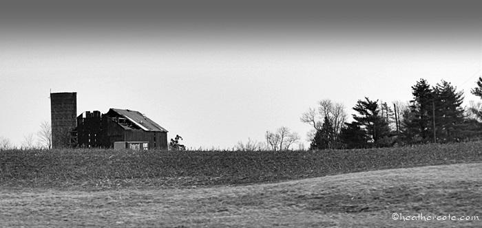 old barn.drive home.20b.w.13