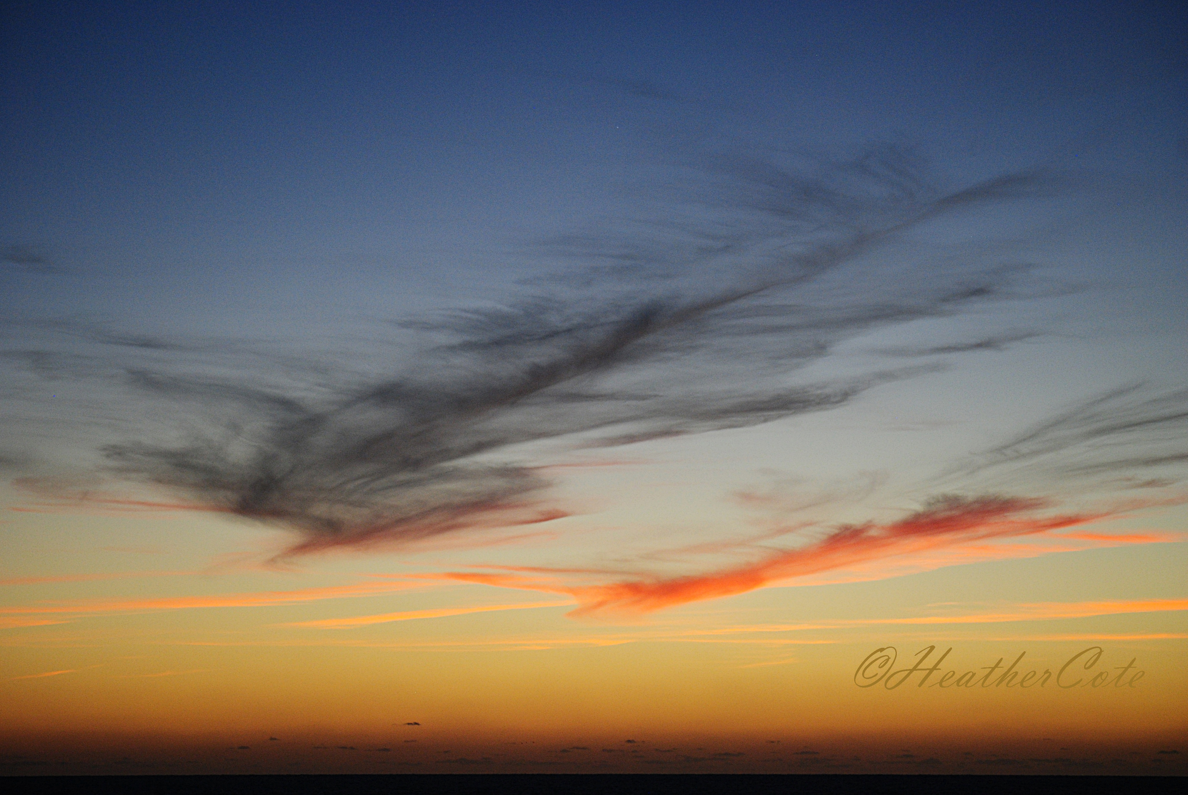 after the sunset ii� heather cote